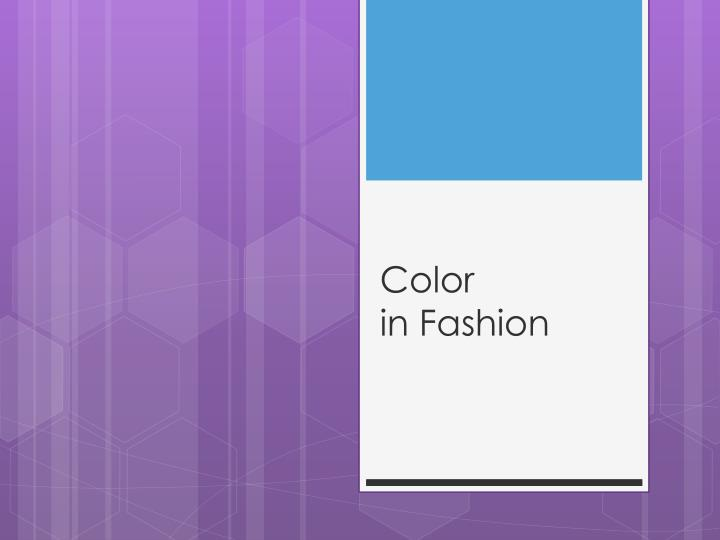 color in fashion n.