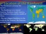 location of the rainforest