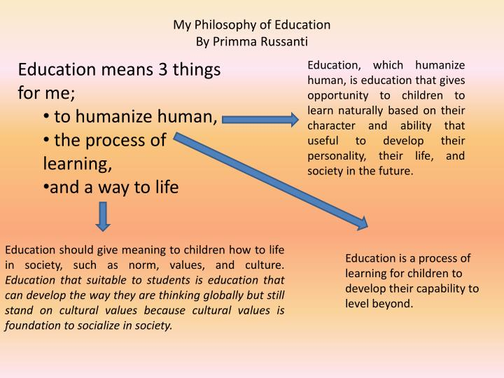 my philosophy of education by primma russanti n.