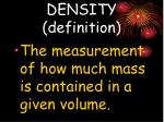 density definition