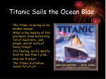 titanic sails the ocean blue