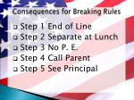 consequences for breaking rules