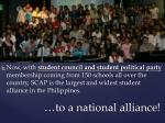 to a national alliance