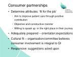 consumer partnerships