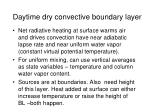 daytime dry convective boundary layer