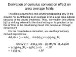 derivation of cumulus convection effect on area average fields
