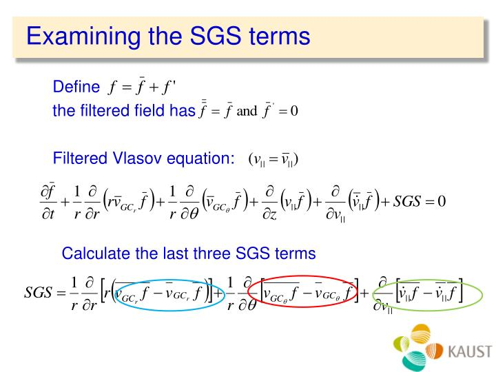 Examining the SGS terms