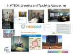 simtech learning and teaching approaches