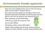 environmentally friendly appliances