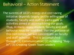 behavioral action statement