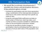 3b participation rate