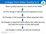 linkages from water quality to