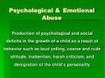 psychological emotional abuse