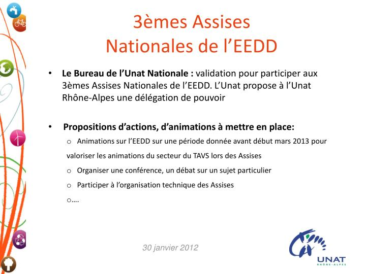 3 mes assises nationales de l eedd n.