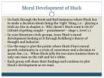 moral development of huck