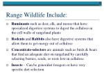 range wildlife include