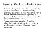 equality condition of being equal