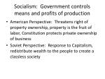 socialism government controls means and profits of production