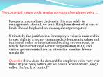 the contested nature and changing contours of employee voice1