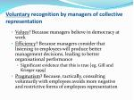 voluntary recognition by managers of collective representation