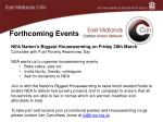 forthcoming events