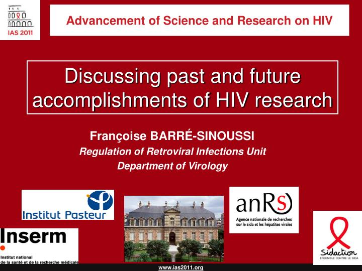 advancement of science and research on hiv n.