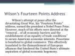 wilson s fourteen points address