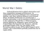 world war i debts