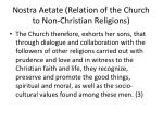 nostra aetate relation of the church to non christian religions1