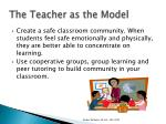 the teacher as the model1