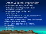 africa direct imperialism