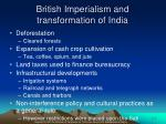 british imperialism and transformation of india