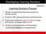developing learning domains