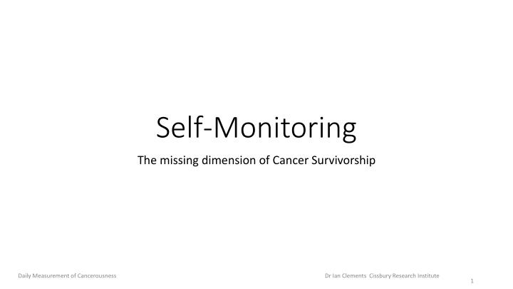 self monitoring n.