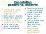 connotation positive vs negative