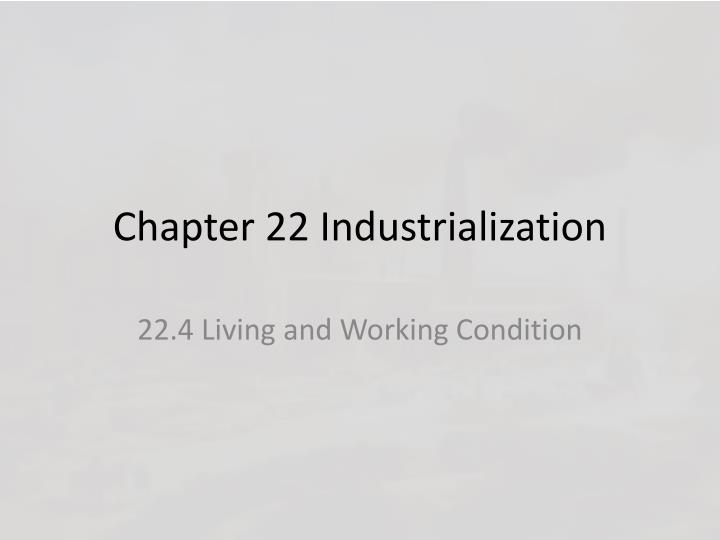 chapter 22 industrialization n.
