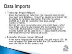data imports