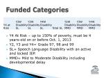funded categories