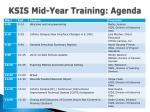 ksis mid year training agenda