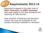 requirements 2013 14