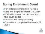 spring enrollment count