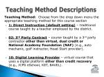teaching method descriptions