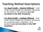 teaching method descriptions1