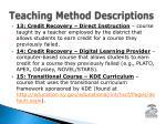 teaching method descriptions2