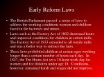 early reform laws