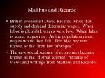 malthus and ricardo1