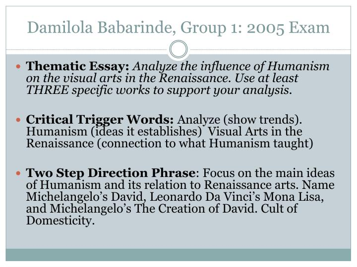 damilola babarinde group 1 2005 exam n.