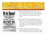 homestead act 1862