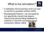 what is live simulation