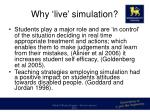 why live simulation